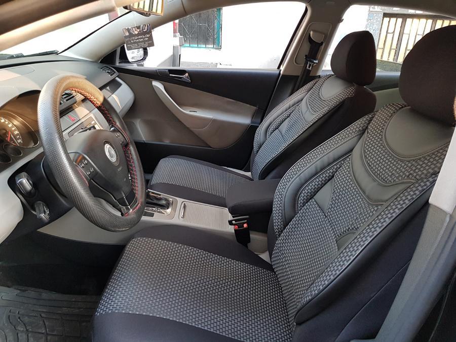 Schwarz-graue Dreiecke Sitzbezüge für HONDA ACCORD Autositzbezug Komplett