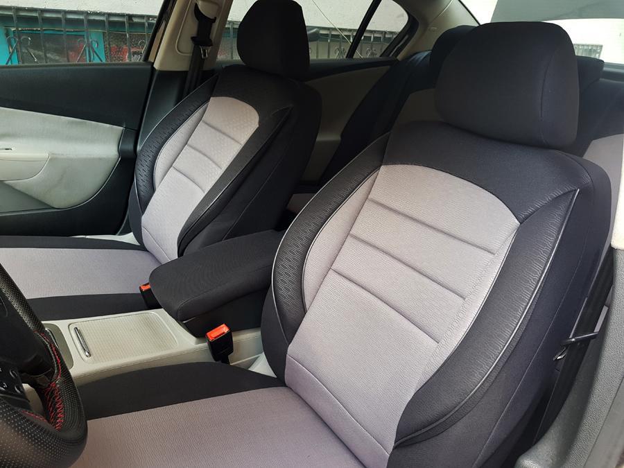 Sitzbezüge Schonbezüge für Ford Fiesta schwarz-grau V758504 Vordersitze