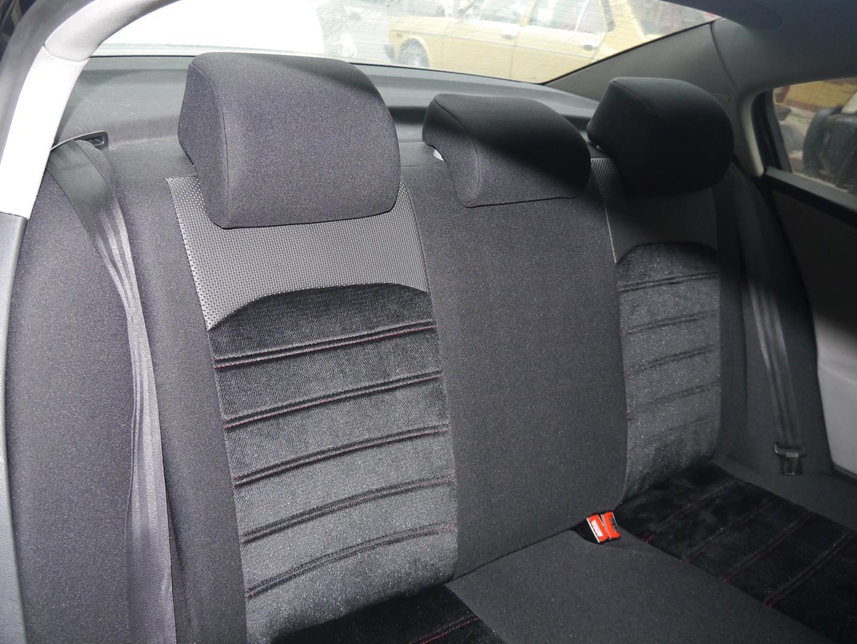 Grauer Velours Sitzbezüge für MERCEDES BENZ C KLASSE Autositzbezug VORNE