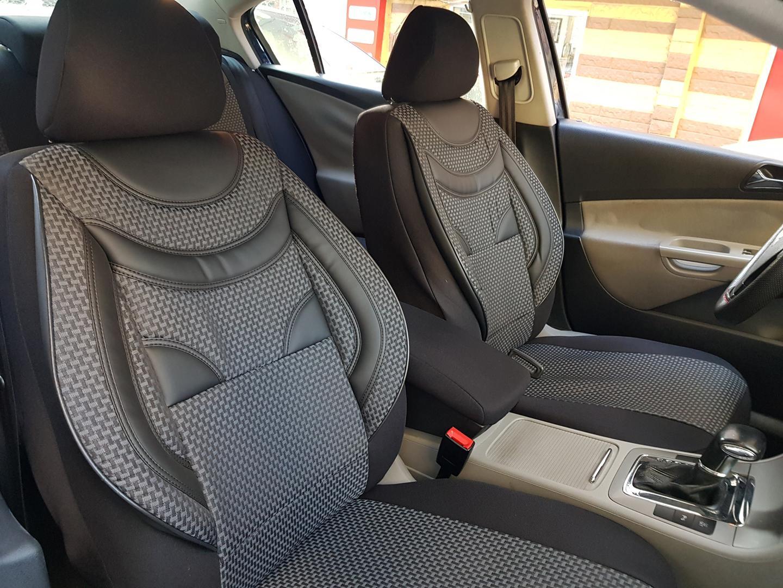 Schwarz-graue Dreiecke Sitzbezüge  MERCEDES BENZ B KLASSE Autositzbezug Komplett