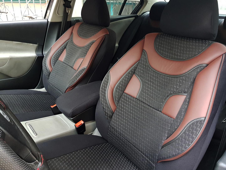 Autositzbezüge Maßgefertigte Schonbezüge Rot Peugeot 308 I