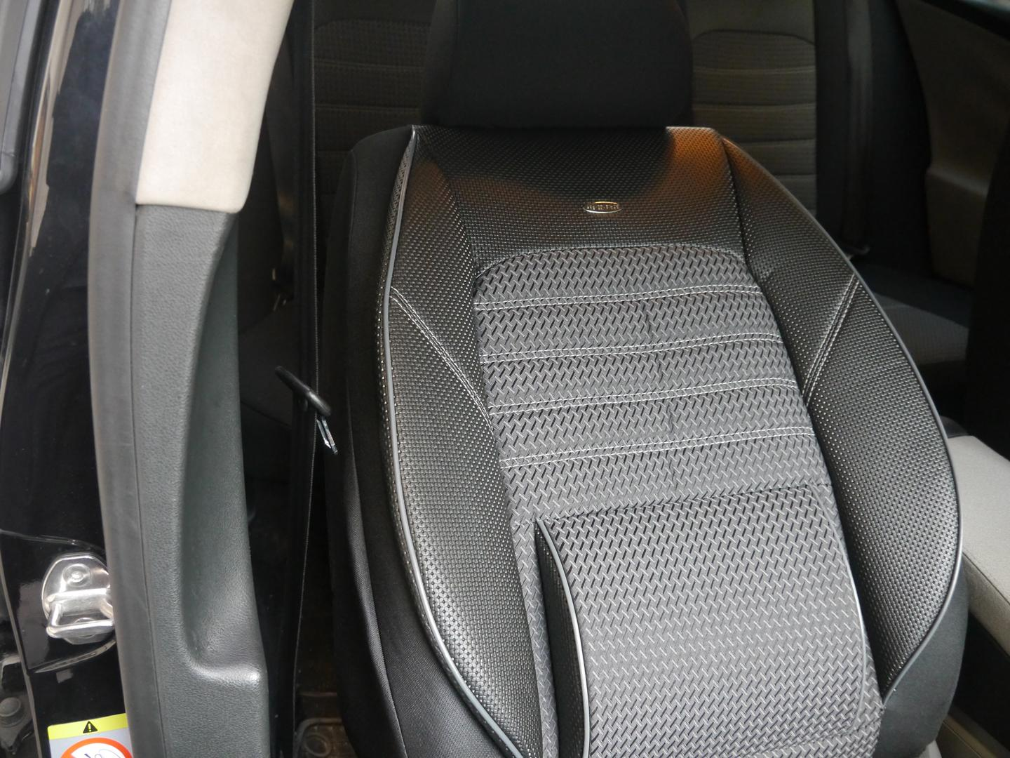 Car seat covers protectors for Toyota Verso No1 black-grey