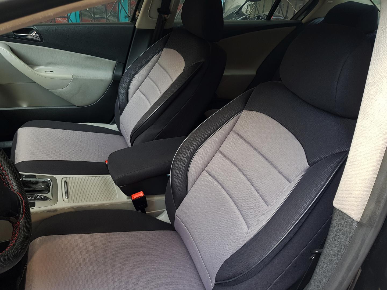 Sitzbezüge Schonbezüge für Volvo V50 schwarz-grau V760064 Vordersitze