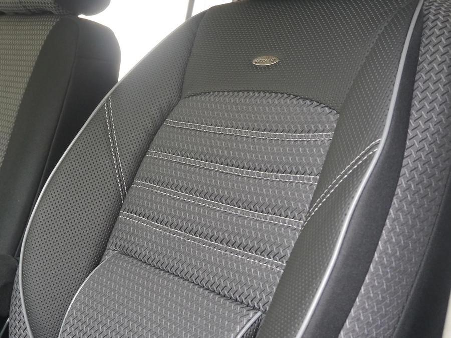 Autositzbezüge Mercedes Vito W639 ab 03 1+2 Vordersitze Schwarz Schonbezug Bezug